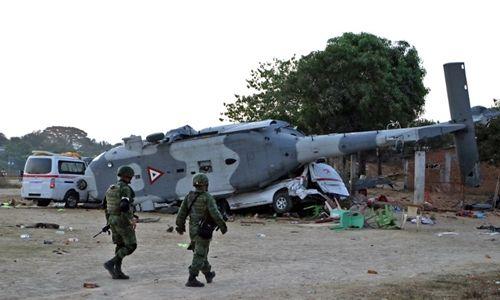 Vụ rơi máy bay chở quan chức tại Mexico: 14 người dưới mặt đất thiệt mạng - Ảnh 1