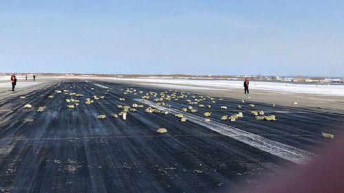 Cửa máy bay gặp sự cố khiến hàng tấn vàng rơi xuống mặt đất - Ảnh 1
