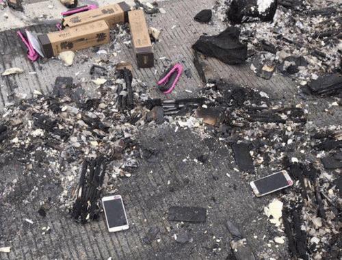 Xe chở lô iPhone phát nổ, máy văng la liệt khắp mặt đường - Ảnh 2