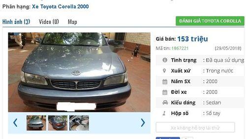 Giật mình với giá siêu rẻ của những chiếc Toyota cũ đang rao bán - Ảnh 5