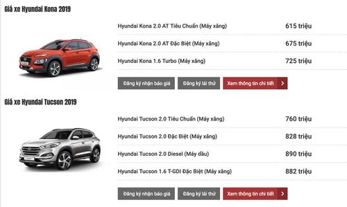 Bảng giá xe Hyundai mới nhất tháng 3/2019: SantaFe 2019 từ 995 triệu đến 1,245 tỷ đồng - Ảnh 4