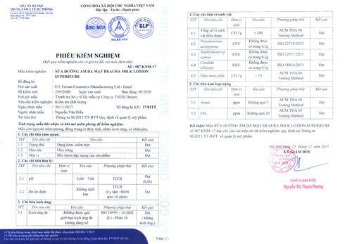 Sở Y tế công bố kết quả kiểm nghiệm các sản phẩm mỹ phẩm Deaura - Ảnh 1