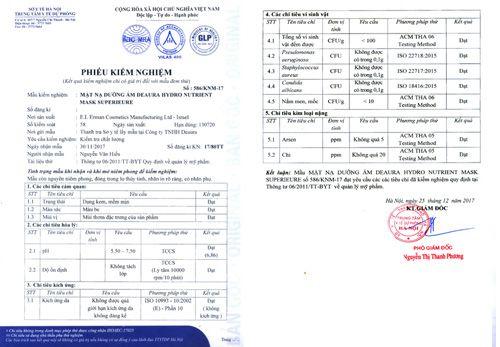 Sở Y tế công bố kết quả kiểm nghiệm các sản phẩm mỹ phẩm Deaura - Ảnh 2