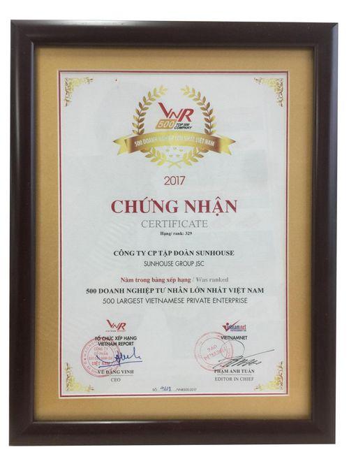 Tập đoàn SUNHOUSE tiếp tục nằm trong bảng xếp hạng Top 500 doanh nghiệp lớn nhất Việt Nam - Ảnh 2