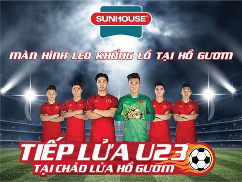 """Địa điểm """"tiếp lửa"""" cho đội tuyển U23 Việt Nam với màn hình LED khổng lồ - Ảnh 1"""