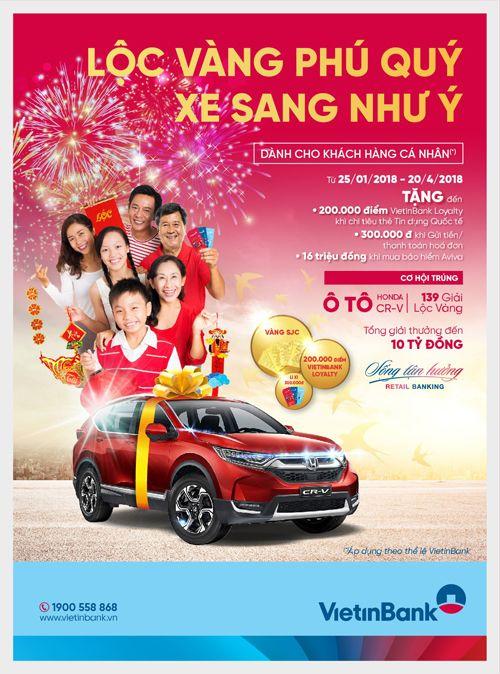 Cơ hội trúng ô tô Honda CR-V và 139 giải Lộc vàng cùng VietinBank - Ảnh 1