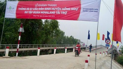 Khánh thành 7 cầu dân sinh mới tại huyện Hồng Ngự tỉnh Đồng Tháp - Ảnh 2