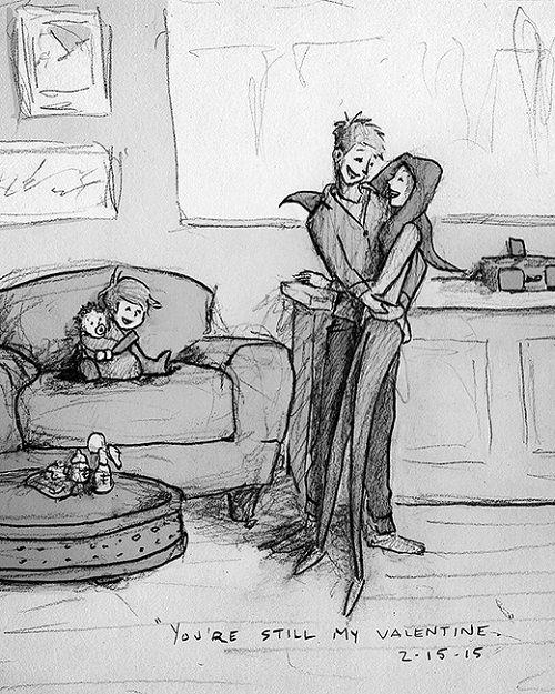 Kết quả hình ảnh cho tranh vẽ vợ chồng đen trắng