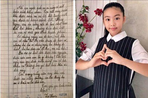 Vợ MC Quyền Linh hạnh phúc chia sẻ bài văn xúc động của con gái lớn - Ảnh 1