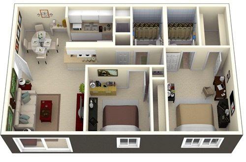 Những mẫu nhà 2 phòng khiến nhiều người mê mẩn muốn sở hữu ngay 6
