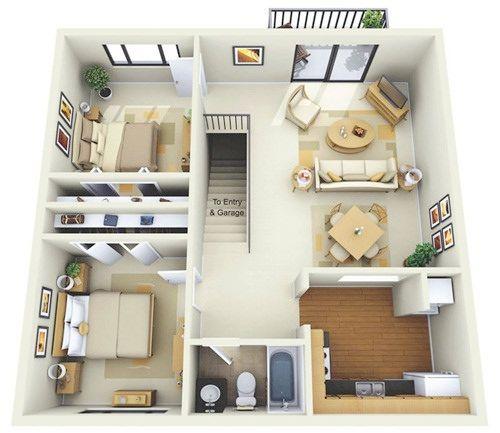 Những mẫu nhà 2 phòng khiến nhiều người mê mẩn muốn sở hữu ngay 3