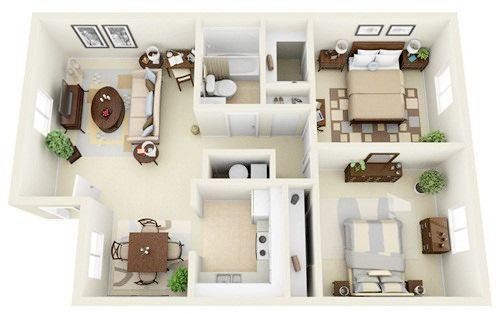 Những mẫu nhà 2 phòng khiến nhiều người mê mẩn muốn sở hữu ngay 4