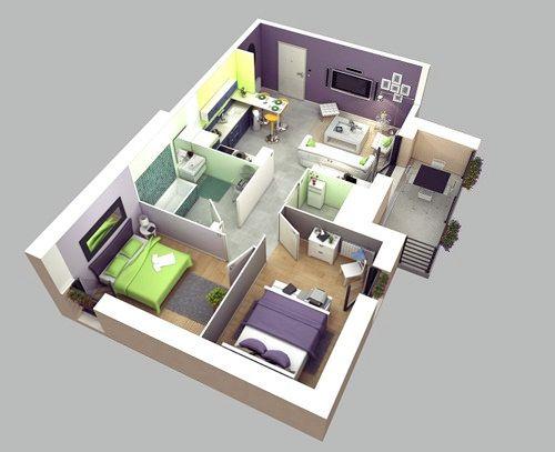 Những mẫu nhà 2 phòng khiến nhiều người mê mẩn muốn sở hữu ngay 7