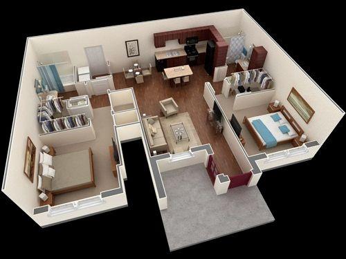 Những mẫu nhà 2 phòng khiến nhiều người mê mẩn muốn sở hữu ngay 5