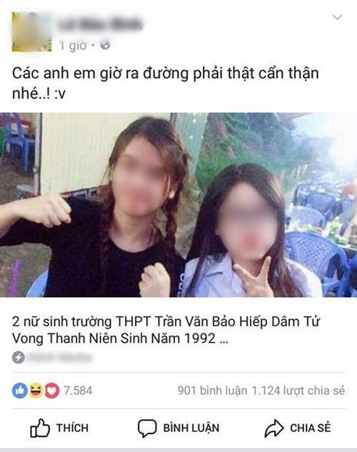 Bị tung tin đồn thất thiệt trên mạng, hai nữ sinh đòi tự tử - Ảnh 1