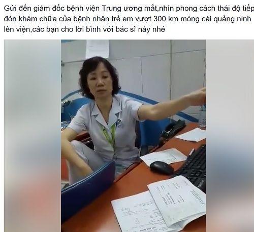 Bác sĩ ngồi khám không đúng tư thế tiếp bệnh nhân tạm dừng khám để tường trình - Ảnh 1