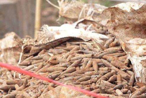 Di dời xong 6 tấn đầu đạn trong bãi phế liệu ở Hưng Yên - Ảnh 1