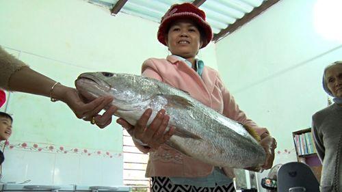 Quảng Nam: Bắt được cá lạ dài gần 1 mét nghi cá sủ vàng quý hiếm - Ảnh 2