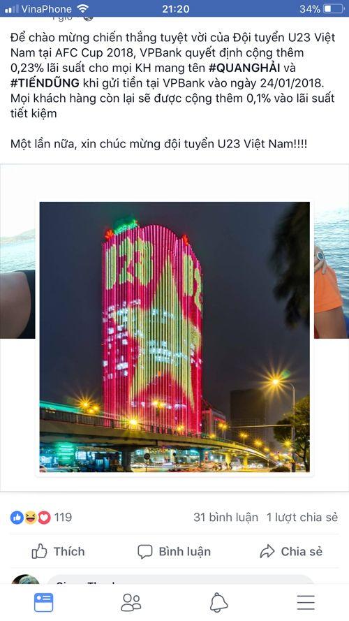 """Nhà hàng, dịch vụ đua nhau giảm giá """"ăn theo"""" chiến thắng U23 Việt Nam - Ảnh 1"""