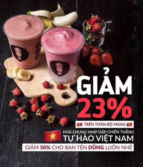 """Nhà hàng, dịch vụ đua nhau giảm giá """"ăn theo"""" chiến thắng U23 Việt Nam - Ảnh 7"""
