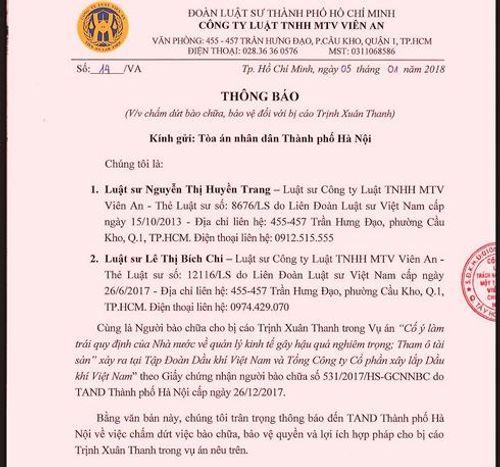 Hai luật sư của ông Trịnh Xuân Thanh bất ngờ rút lui trước phiên xử - Ảnh 1