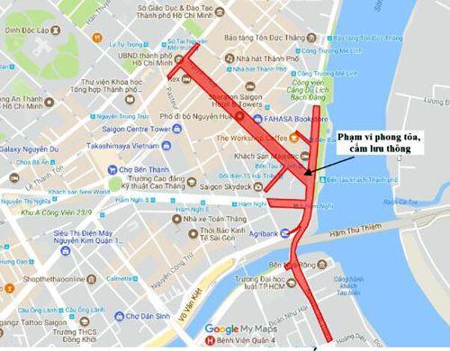 TP. HCM cấm nhiều đường trung tâm trong đêm giao thừa - Ảnh 1