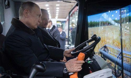 """Ông Putin đùa """"sẽ đi lái máy gặt nếu không tái đắc cử"""" - Ảnh 1"""