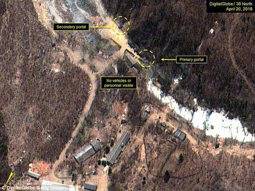 Triều Tiên bắt đầu rút dây cáp ngầm tại bãi thử hạt nhân Punggye-ri - Ảnh 1