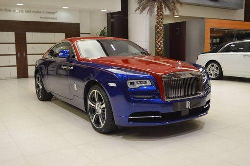 Chiêm ngưỡng siêu phẩm Rolls-Royce Wraith với hai tông màu xanh - đỏ vô cùng đặc biệt  - Ảnh 2