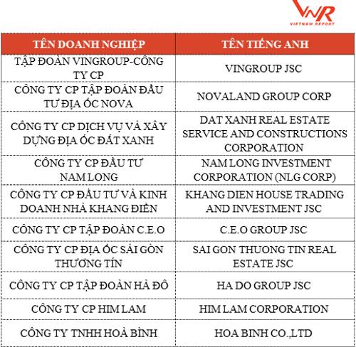 Top 10 chủ đầu tư bất động sản uy tín 2018 - Ảnh 2