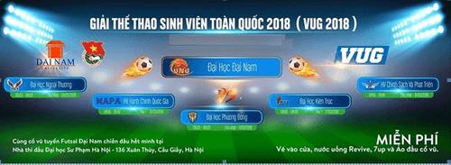 Đại học Đại Nam tham gia Giải thể thao sinh viên toàn quốc – 2018 (VUG) - Ảnh 1