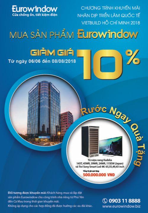 Eurowindow tri ân khách hàng, giảm giá 10% và dành tặng nhiều phần quà hấp dẫn cho khách hàng - Ảnh 1