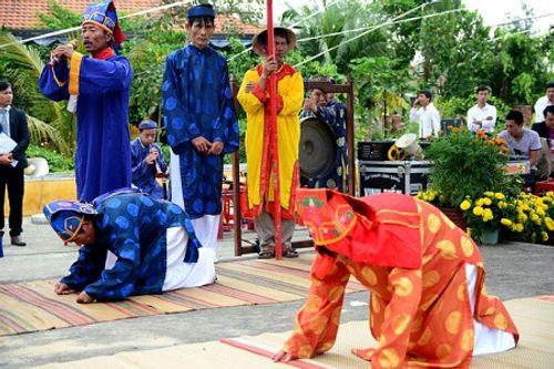 Chùm ảnh: Lễ hội Cầu Bông tại làng rau Trà Quế - Ảnh 9