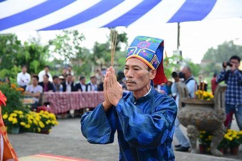 Chùm ảnh: Lễ hội Cầu Bông tại làng rau Trà Quế - Ảnh 3