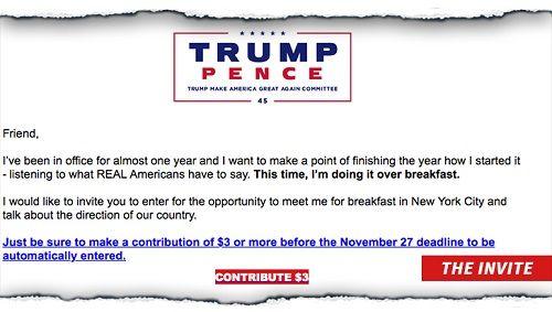 Muốn ăn sáng cùng Tổng thống Trump hãy chi ngay 3 USD - Ảnh 2