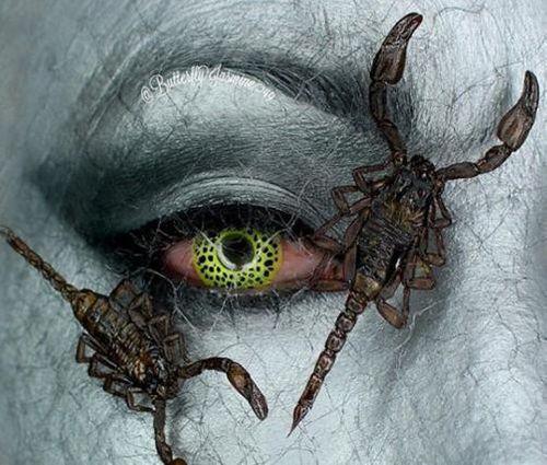 Ngỡ ngàng trước những tuyệt phẩm trang điểm từ xác côn trùng - Ảnh 10