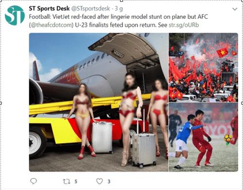 Báo quốc tế đưa tin về 'màn trình diễn bikini' đón đội tuyển U23 Việt Nam của Vietjet Air - Ảnh 1