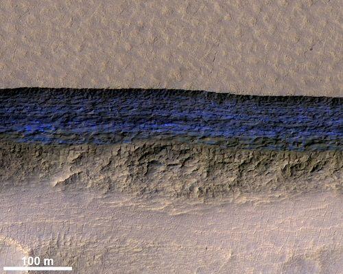 """Sao Hỏa """"giấu"""" các lớp băng dày ngay dưới bề mặt - Ảnh 2"""