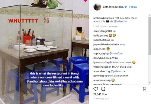 Đầu bếp cùng ăn bún chả với ông Obama tại Hà Nội đăng bức ảnh bộ bán ghế lồng khung kính - Ảnh 2