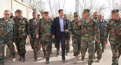 Hậu không kích, Tổng thống Syria vẫn đi làm bình thường  - Ảnh 1