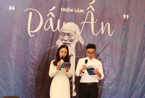 """Học sinh trường Lương Thế Vinh làm triển lãm """"Dấu ấn"""" tưởng nhớ thầy Văn Như Cương - Ảnh 1"""