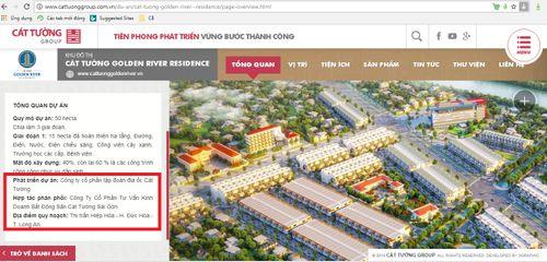 """Quảng cáo dự án """"ma"""" Golden River Residence, Cát Tường Group bị xử phạt - Ảnh 2"""