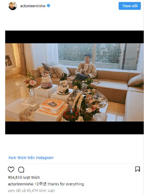 Lee Min Ho gửi lời cám ơn đến fan nhân dịp kỷ niệm 12 năm ra mắt - Ảnh 1