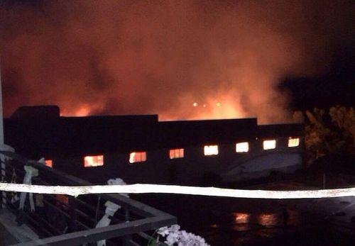 Tiền Giang: Cháy lớn tại nhà máy dệt ở khu công nghiệp Long Giang - Ảnh 1