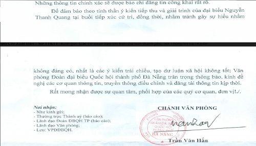 """Trưởng đoàn ĐBQH Đà Nẵng bất ngờ đính chính phát ngôn việc Đại tá Tam nhận nhà Vũ """"nhôm"""" - Ảnh 2"""