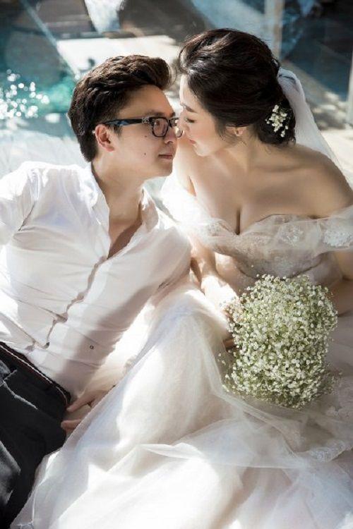Á hậu Tú Anh khoe bộ ảnh cưới đẹp như mơ với chú rể điển trai - Ảnh 3