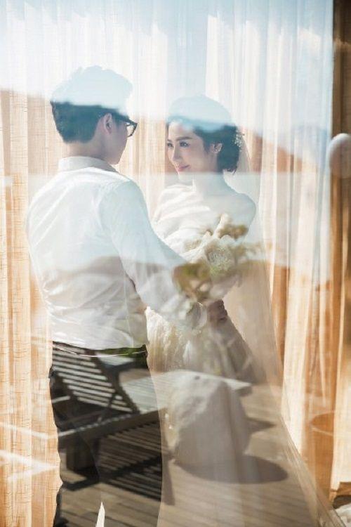 Á hậu Tú Anh khoe bộ ảnh cưới đẹp như mơ với chú rể điển trai - Ảnh 2