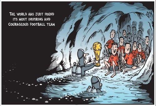 Những bức vẽ dễ thương mà ý nghĩa về cuộc giải cứu thần kỳ đội bóng Lợn Hoang - Ảnh 8