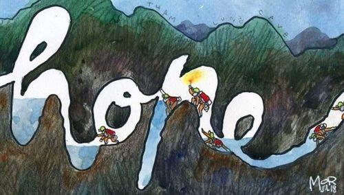 Những bức vẽ dễ thương mà ý nghĩa về cuộc giải cứu thần kỳ đội bóng Lợn Hoang - Ảnh 5