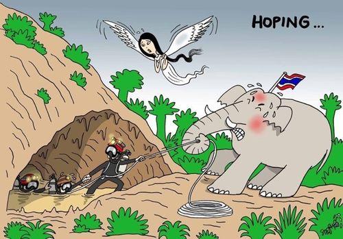 Những bức vẽ dễ thương mà ý nghĩa về cuộc giải cứu thần kỳ đội bóng Lợn Hoang - Ảnh 2